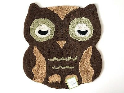"Baby Kids Owl Shapes Accent Decorative Woodland Decor Rug 23""x26"""
