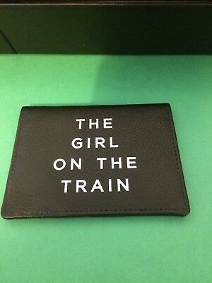 The Girl On The Train - Black Real leather card holder.