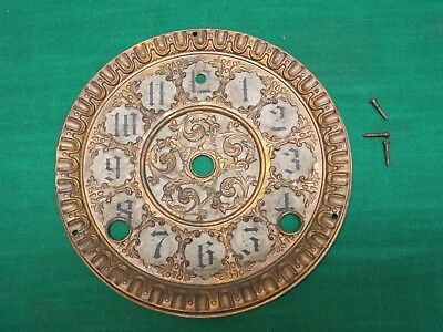 Vtg face dial from old F S Sessions mantel clock Replacement parts repair ornate