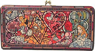 Diversion Stained Glass Long Wallet Alice in Wonderland Disney Limited Japan