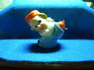 1928 ANTIQUE  VINTAGE DUTCH Doll/ Girl Sewing PIN CUSHION Japan