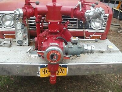 Vintage Champion Pump Off Front Of Fire Truck Gpm 750 Model Ksf