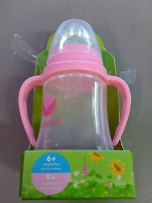 green sprouts Glass Sip 'n Straw Cup, Light Pink, 4 Ounce