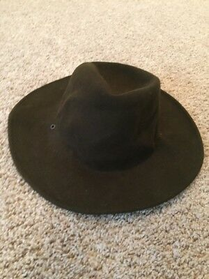 BSA Boy Scout Leader Campaign/Soft Indiana Jones style Hat  100% Wool US Made M