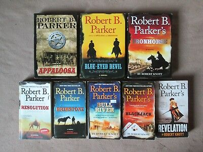 Lot of 8 ROBERT B. PARKER Books, All are COLE & HITCH Series Western Novels