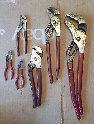 BLUE-POINT TOOLS 6-PIECE ADJUSTABLE CHANNEL LOCK Groove Joint Pliers SET USA