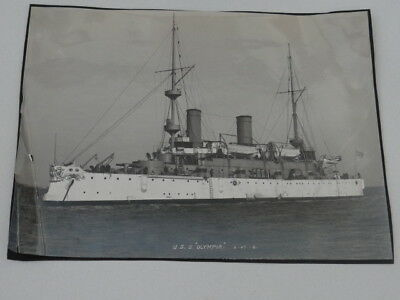 Photo USS Olympia C-6 US Navy Protected Cruiser Commissioned 1895 Training Ship