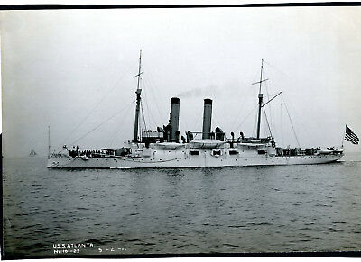 Photo USS Atlanta US Navy Protected Cruiser Commissioned 1885