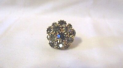 Vintage Rhinestone Adjustable Ring