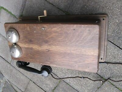 Antique Railway Telephone, Western Electric, wooden cabinet including generator.