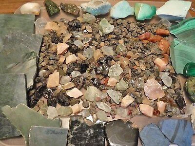 Lot of Rough Gems & Minerals, Jade, Malachite, Sapphire, Garnet Rubies & More