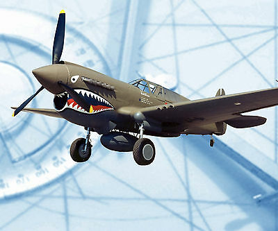 Model Airplane F/S Printed Plans 1/12 Scale 37 .29-60 Controline CURTISS P40E