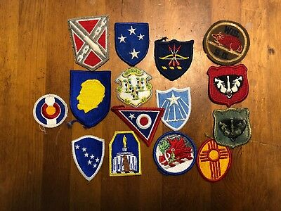 Lot of 15 patch patches WWII WW2 to now - State National Guard
