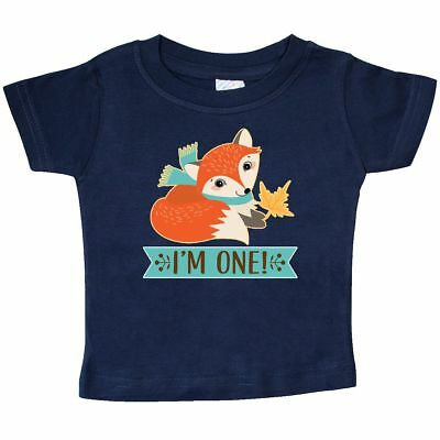 Inktastic 1st Birthday Woodland Fox 1 Year Old Baby T Shirt One Im Animals Cute