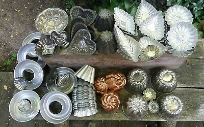 Vintage Tart Jelly Molds Lot 54 Candy Soap Candle Crafts