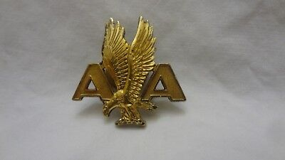 LARGE VINTAGE AMERICAN AIRLINES Flying Eagle AA PIN BADGE