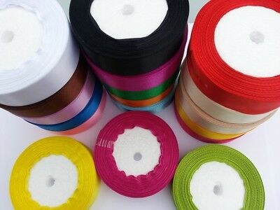 Satin Ribbon 25mm wide Great Quality 5m 10m  20m  50m PINK RED / 20 COLORS