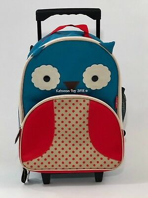 Skip Hop Zoo Owl Rolling Luggage Suitcase Boys Girls Kids Toddler New Travel