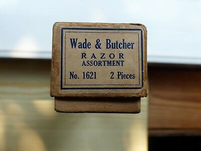 Wade & Butcher Straight Razor Asst. No. 1621 ( 2 Pcs. ) Original Box And Leather