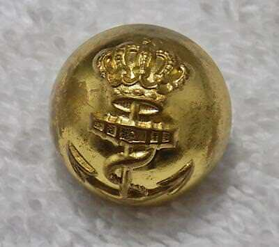 "Vintage British Royal Navy Ball Button Kings Navy 3/4"" Kings Crown and Anchor"