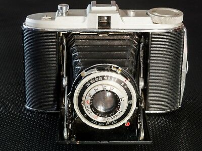 Vintage Agfa Isolette 120 film fold out leather bellows camera