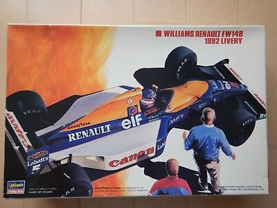 HASEGAWA WILLIAMS  RENAULT  FW14B  1992 LIVERY 1/24 scale Model Kit VINTAGE RARE