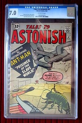 Tales To Astonish #41  Cgc 7.0!  N.r.  Ant-Man And Avengers Movies!  Ow-Pages!