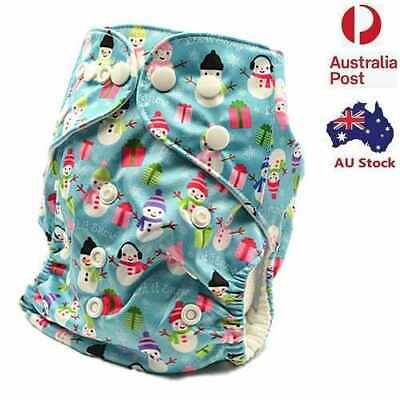 Baby Modern Cloth Nappy Diapers Pocket Nappies FREE Liner For Christmas (D229)