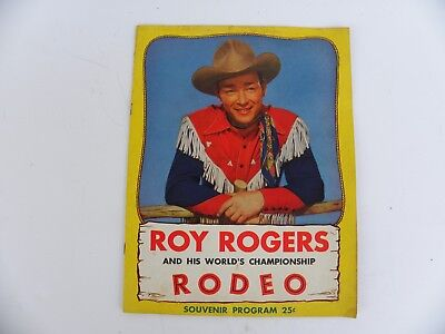 1948 Vintage Roy Rogers and his World''s Championship Rodeo Souvenir Program