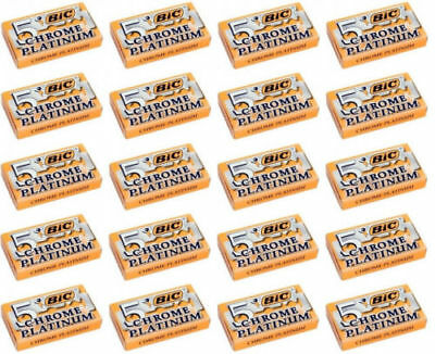 BIC CHROME PLATINUM Double Edge Safety Razor Blades fff05d5583fa