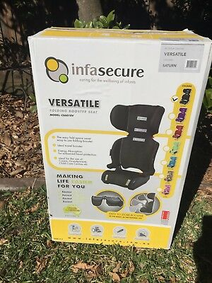 InfaSecure Versatile Folding Booster Car Seat 4-8 Years Kid Child Infant