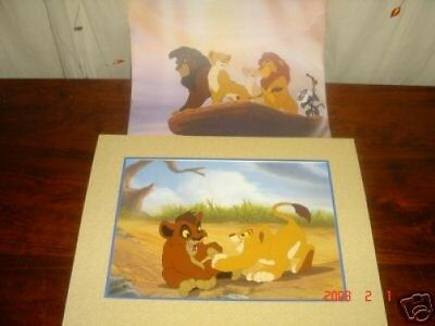 the Disney store lion king ii commemorative lithograph