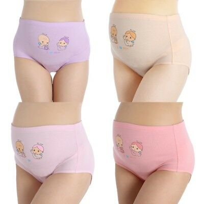 Panties For Pregnant Women New Cartoon High Waist Belly Support Underwear Briefs