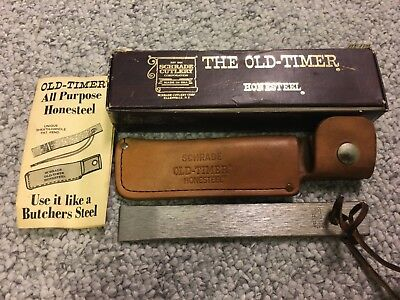Schrade Vintage Hs-1 Old Timer Honesteel W/sheath Lanyard Papers Box New!