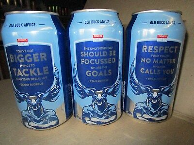 TOOHEYS OLD BUCK ,[ the coach's ],BLUES, CANS X 3.