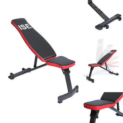 ISE Banc de musculation inclinable pliable Banc Reglable pour muscles abdominaux