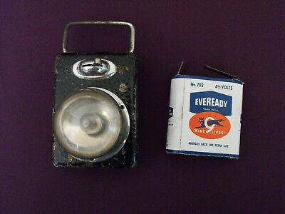 Early 20th Century Eveready Lantern and Battery