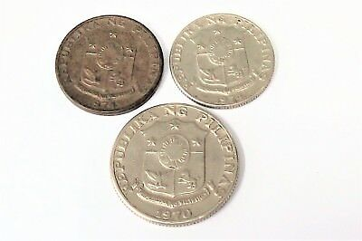 PHILIPPINES 5-10-25 cents 1970/1974  Nice details Good collectable.E/F condition