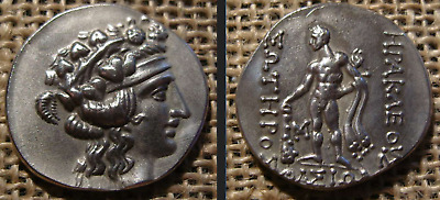 Thasos, Thrace, 168-148 to N. Uh. AR silver notebook.Head of young Dionysus