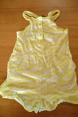 Girls Bardot Junior Yellow and White Jumpsuit Size 7