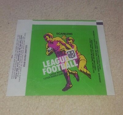 Scanlens rugby league wrapper 1982 nrl EXC COND australian