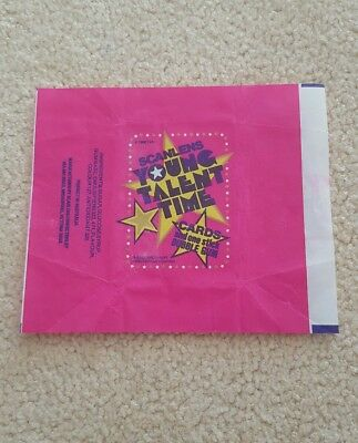 Scanlens young talent time wrapper 1986 EXC COND australian sydney