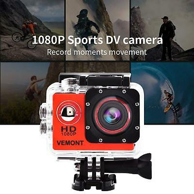 Waterproof Action Camera 1080P HD 12MP Sports Camera Action Cam 30m Underwater