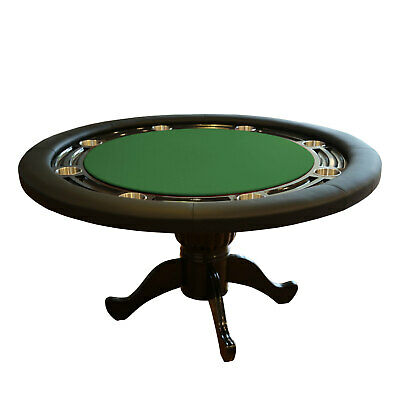 """The Moneymaker 55"""" Professional Poker Table 8 Seater Green Suited Speed Cloth"""