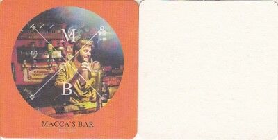 NT Draught - Macca's Bar Australian issued Square Beer Coaster - Beer Mat