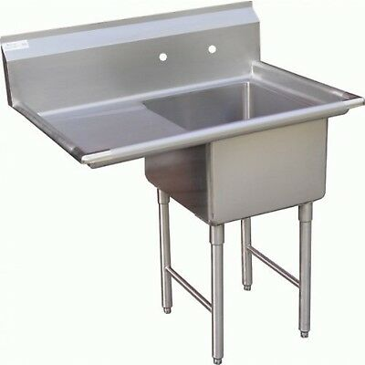 """ACE 1 Compartment Stainless Steel Sink with Left Drainboard, 18 by 18"""""""
