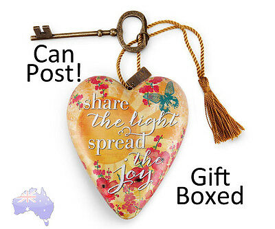 Demdaco Art Hearts SHARE THE LIGHT hanging ornament or shelf 1003480061 NIB Gift
