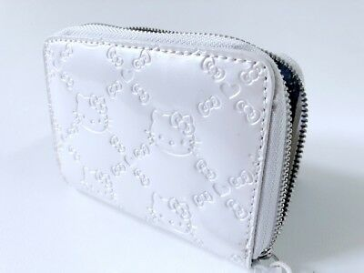 Hello Kitty Embossed Pearl White Mini Wallet Loungefly Sanrio Licensed y30