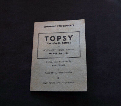 Command Performance by Topsy the Magician Horse for Royal Couple March 16th,1954