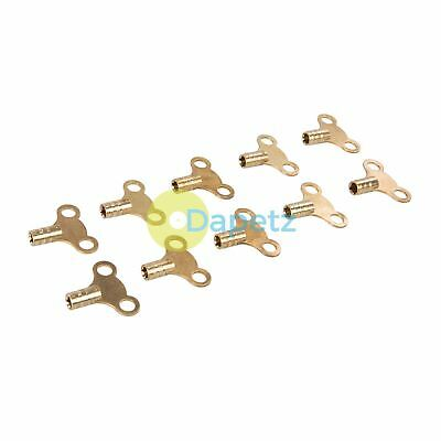 Radiator Bleed Keys Brass Clock-Type Corossion Resistant For Air Vents 10Pk